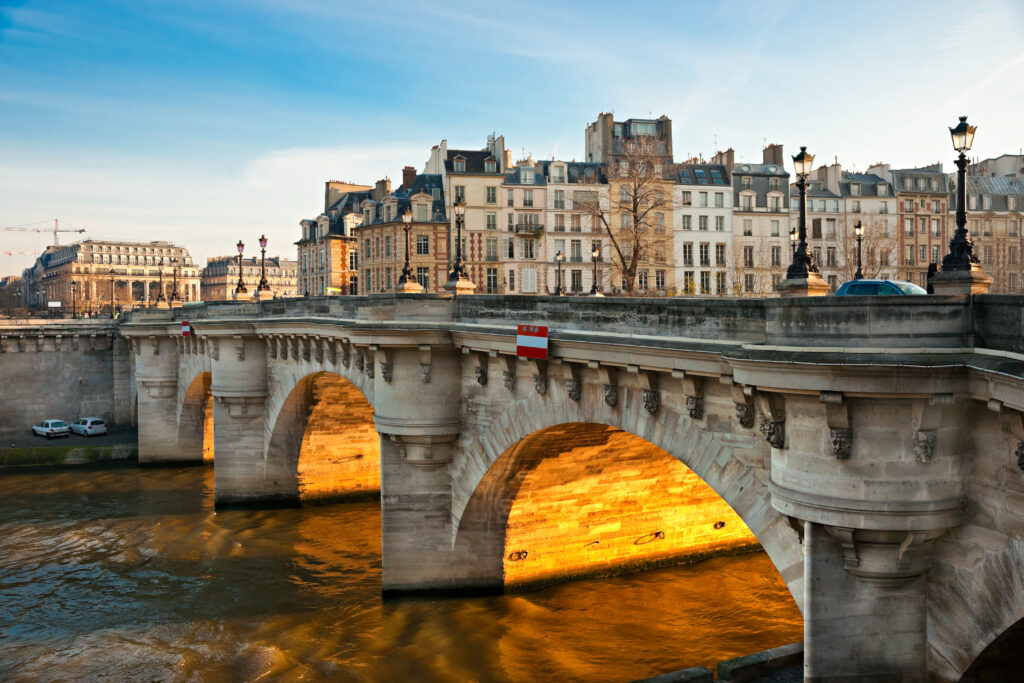 Pont neuf in Paris, France. Self-Guided walking tour of Paris
