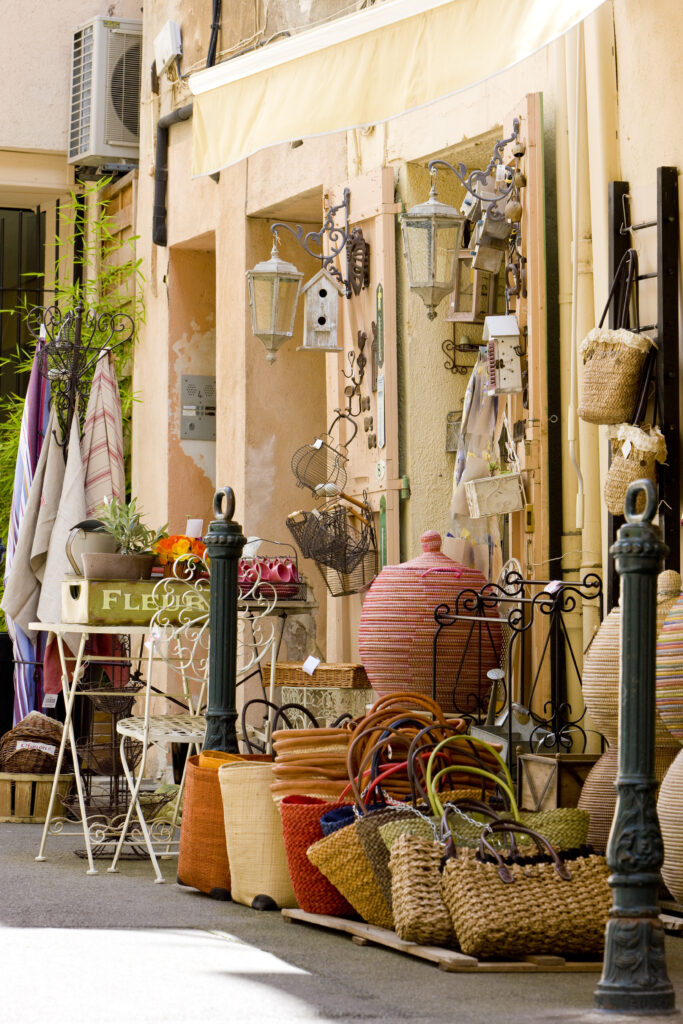 Shopping streets in Aix-en-Provence, France