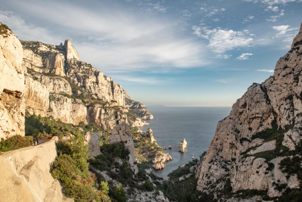 Hiking to Calanque de Sugiton near Marseille